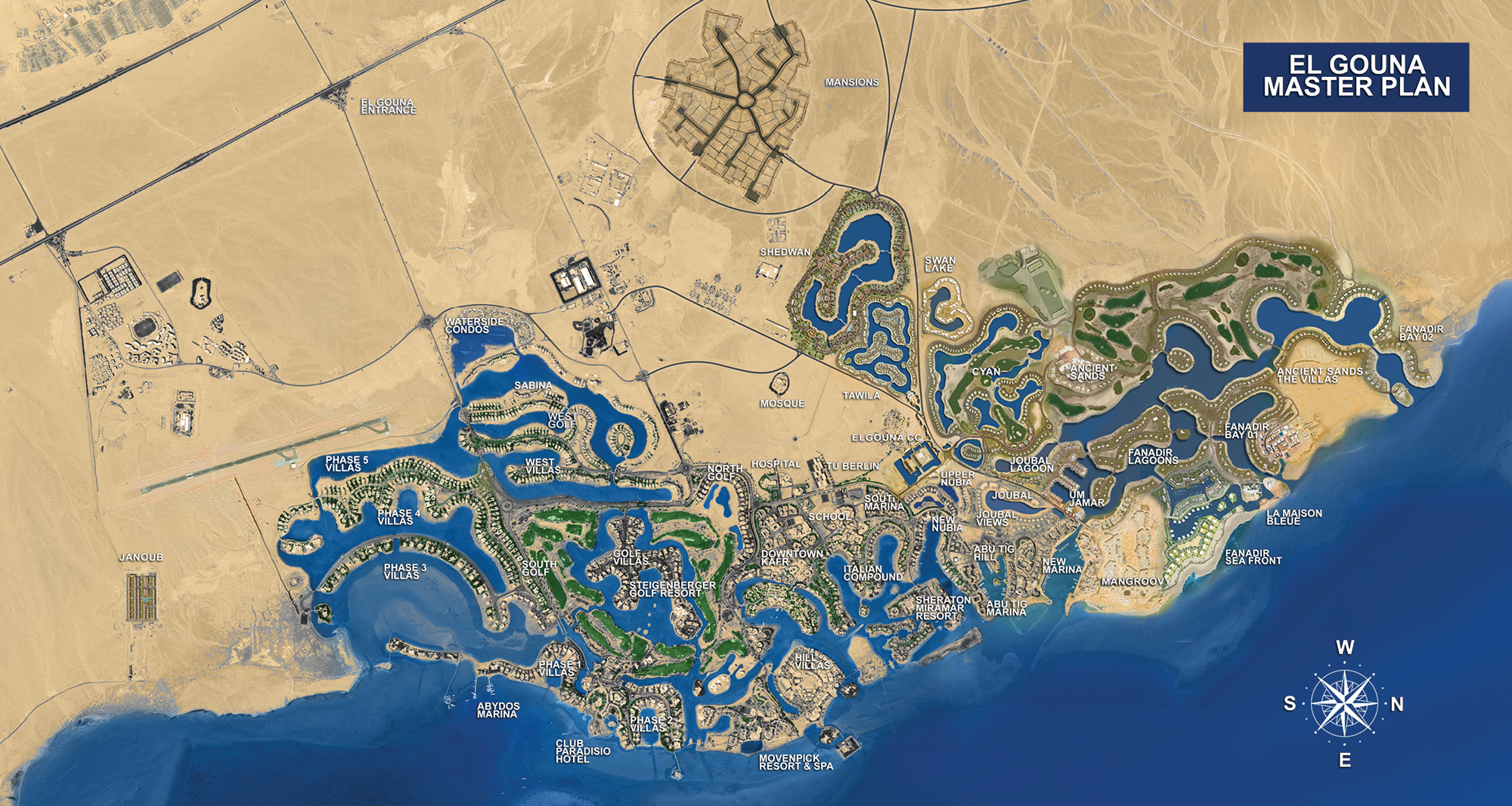 El Gouna Official Website Properties For Sale At El Gouna - Map of egypt el gouna