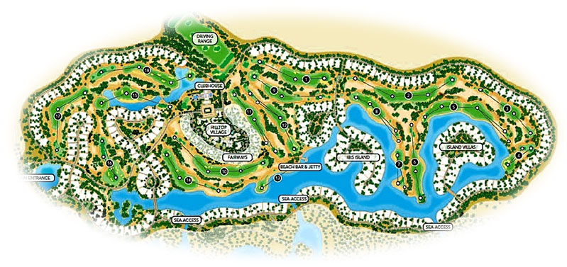 El Gouna Golf Club Map